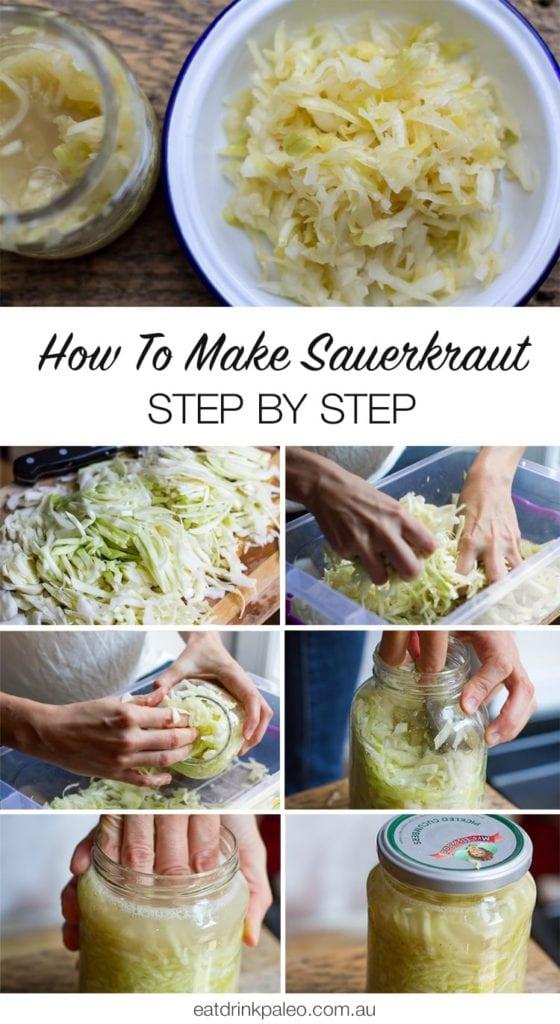 Visit: http://eatdrinkpaleo.com.au/quick-sauerkraut-recipe-step-step-photos/