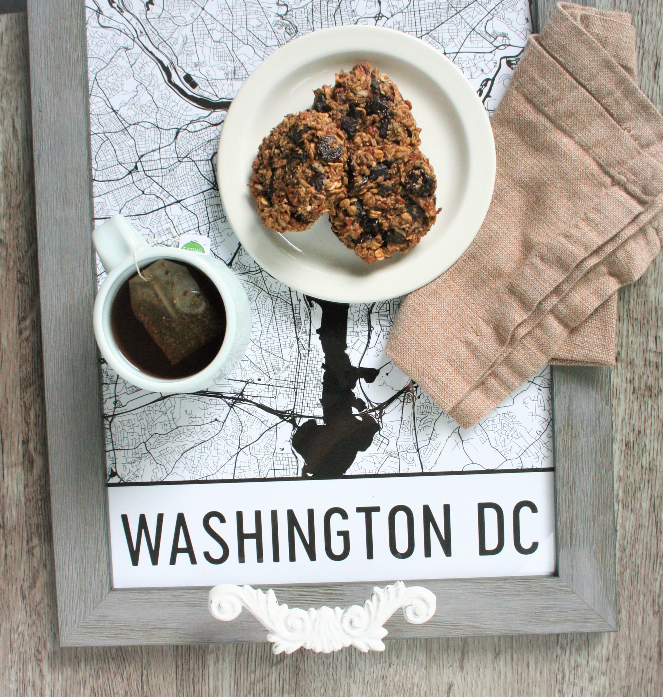 DIY serving tray (+kitchen sink breakfast cookies)