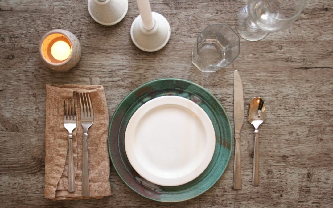 Make the mood: beautiful/functional table setting elements