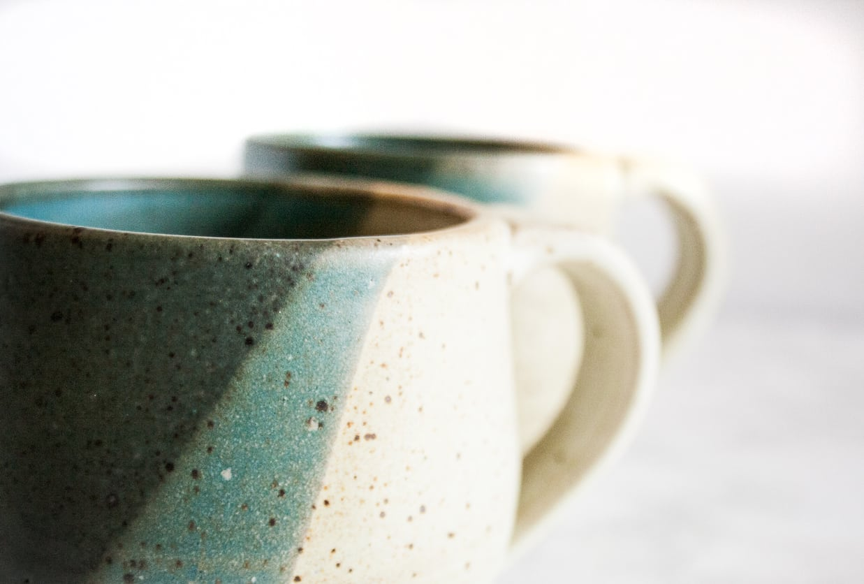 Glass bottom mugs