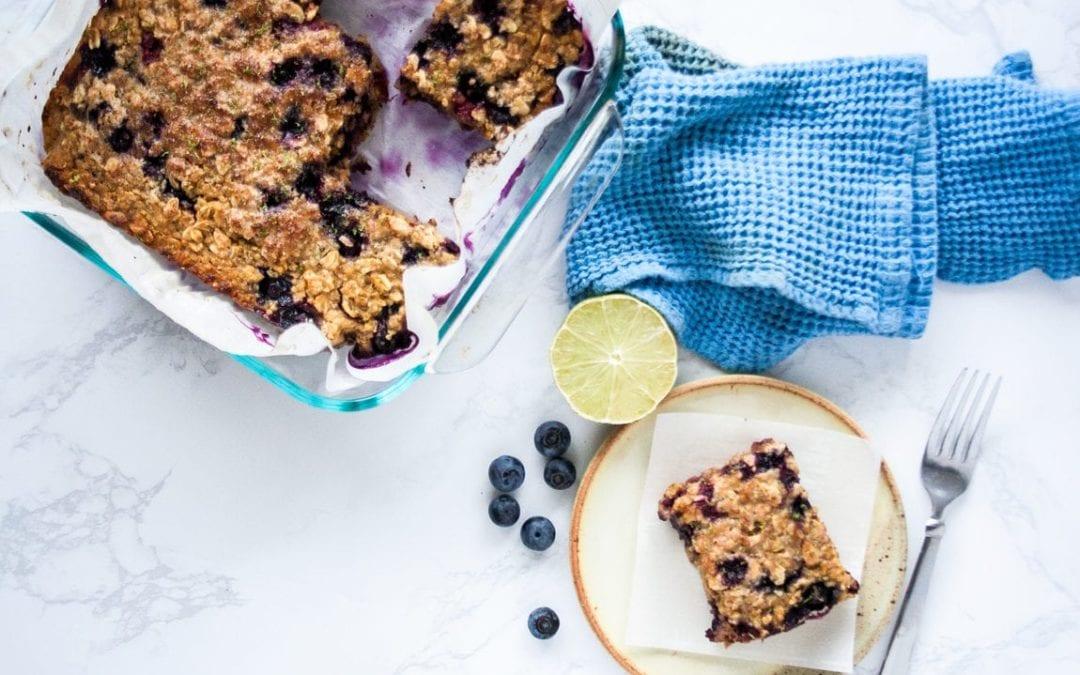 Blueberry Lime Breakfast Bars
