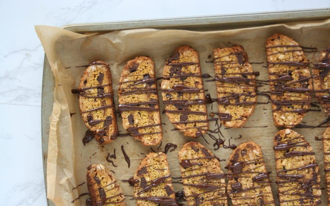 Almond Chip Butternut Biscotti