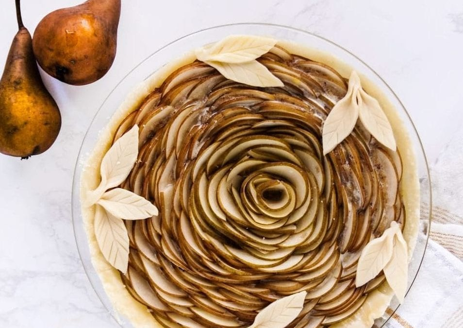 Pear Tarte with Maple Almond Filling